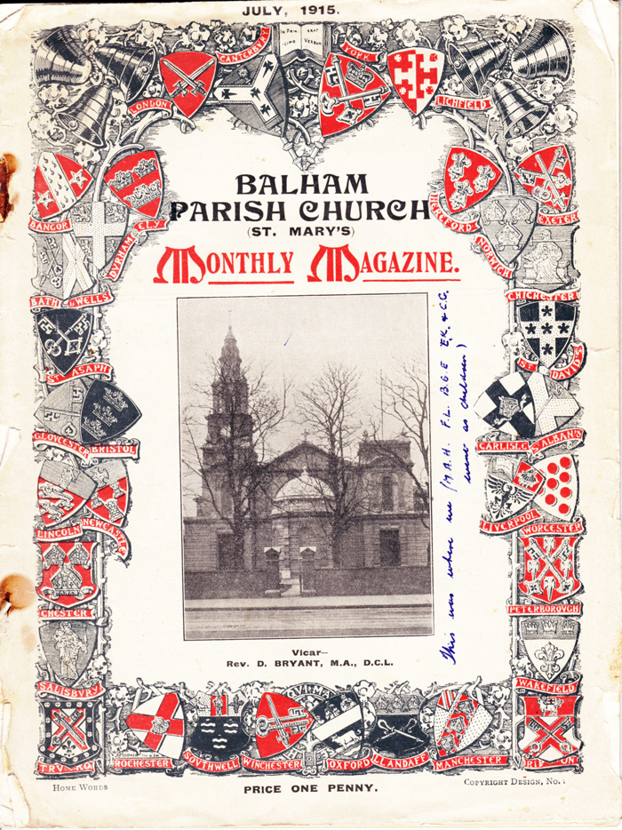 Balham Parish Church Magazine 1916 WEB