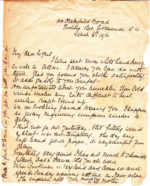 Letter from Mum 1916WEB