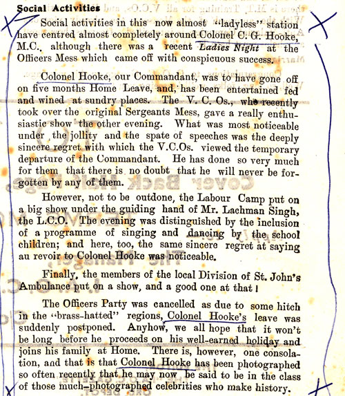 IOAC Gazette Report for CG Hooke on leaving India 0002
