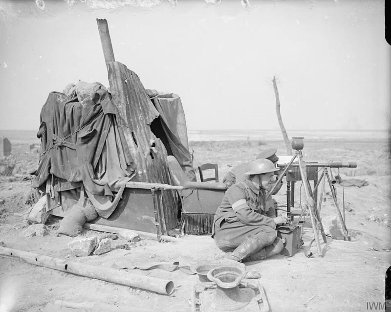The Battle of Arras April may 1917 signalling station at Neuville Vitasse 29 April 1917