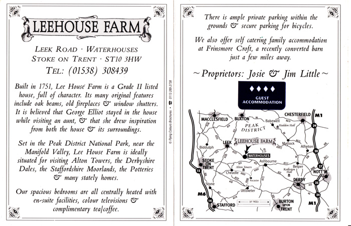 Lee House Farm Blurb Postcard WEB