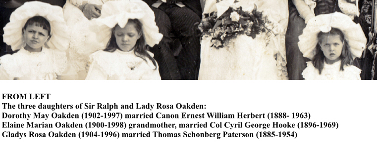 Oakden Wedding 1910 Bottom with Names