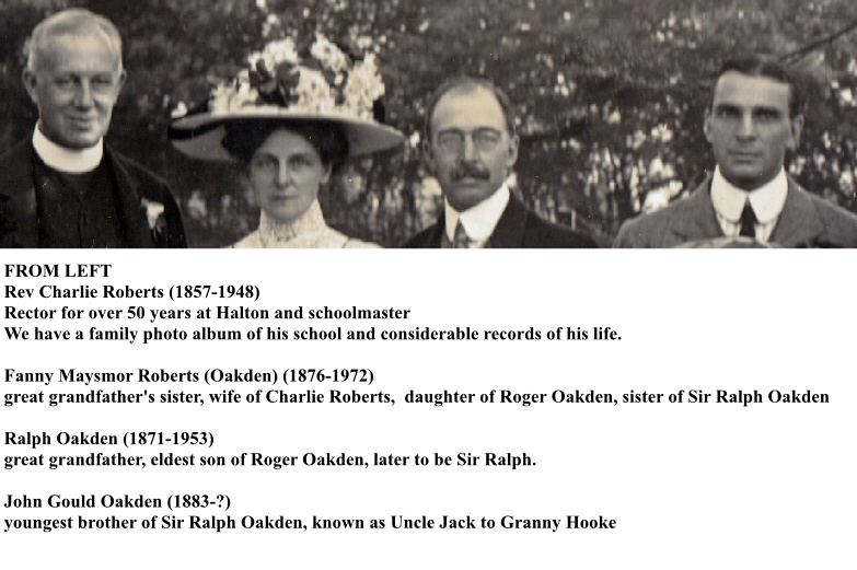 Oakden Wedding 1910 Centre Top with Names