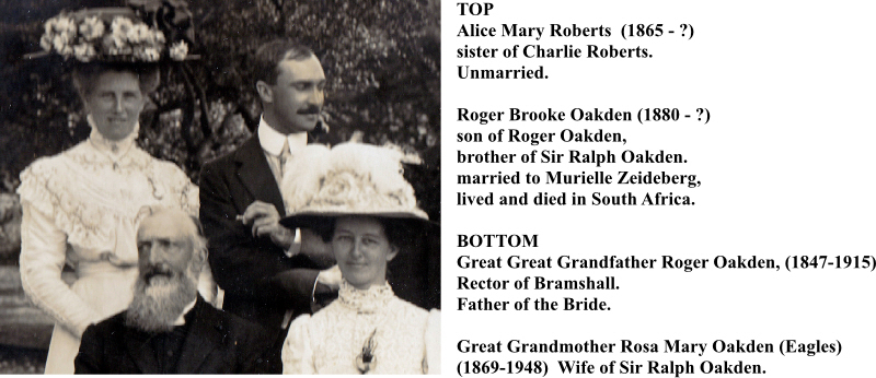 Oakden Wedding 1910 Top Left with Names