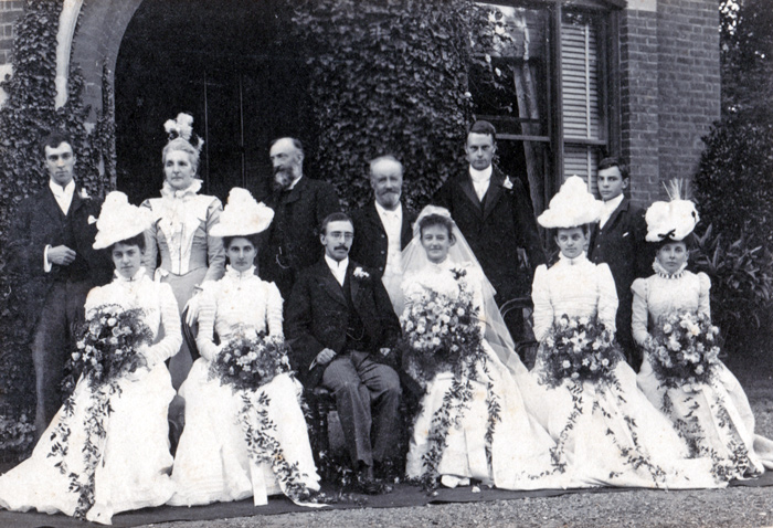 Oakden Wedding Photo at Meophams Bank 1899WEB