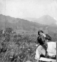 June 1933: Cyril & Mildred beside Grasmere.