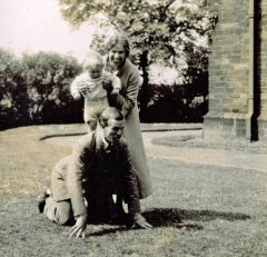 June 1933: Mildred & Cyril with nephew, Ralph Herbert, Bradford.