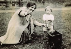 June 1933: Mildred with nephew, Ralph Herbert, five years into her time as Head Mistress in Bradford.