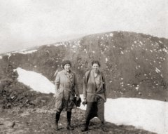 Sisters Ella & Mildred climbing Snowdon, Easter Day 1924