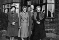 1954: Granny Elaine, Ella, Grandpa Cyril and Mildred Hooke.